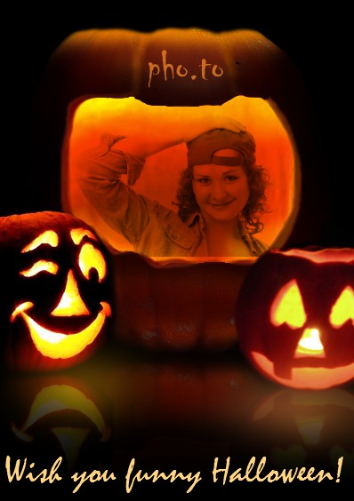 Halloween photo maker to make funny photo into pumpkin images