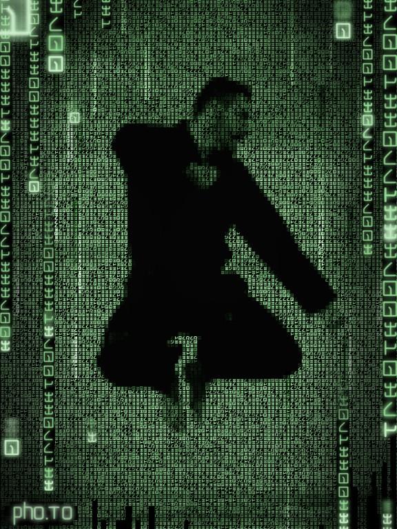 Matrix photo generator: apply green code effect to your pics