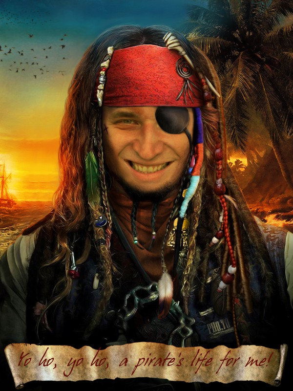 'Pirate me' face photo montage