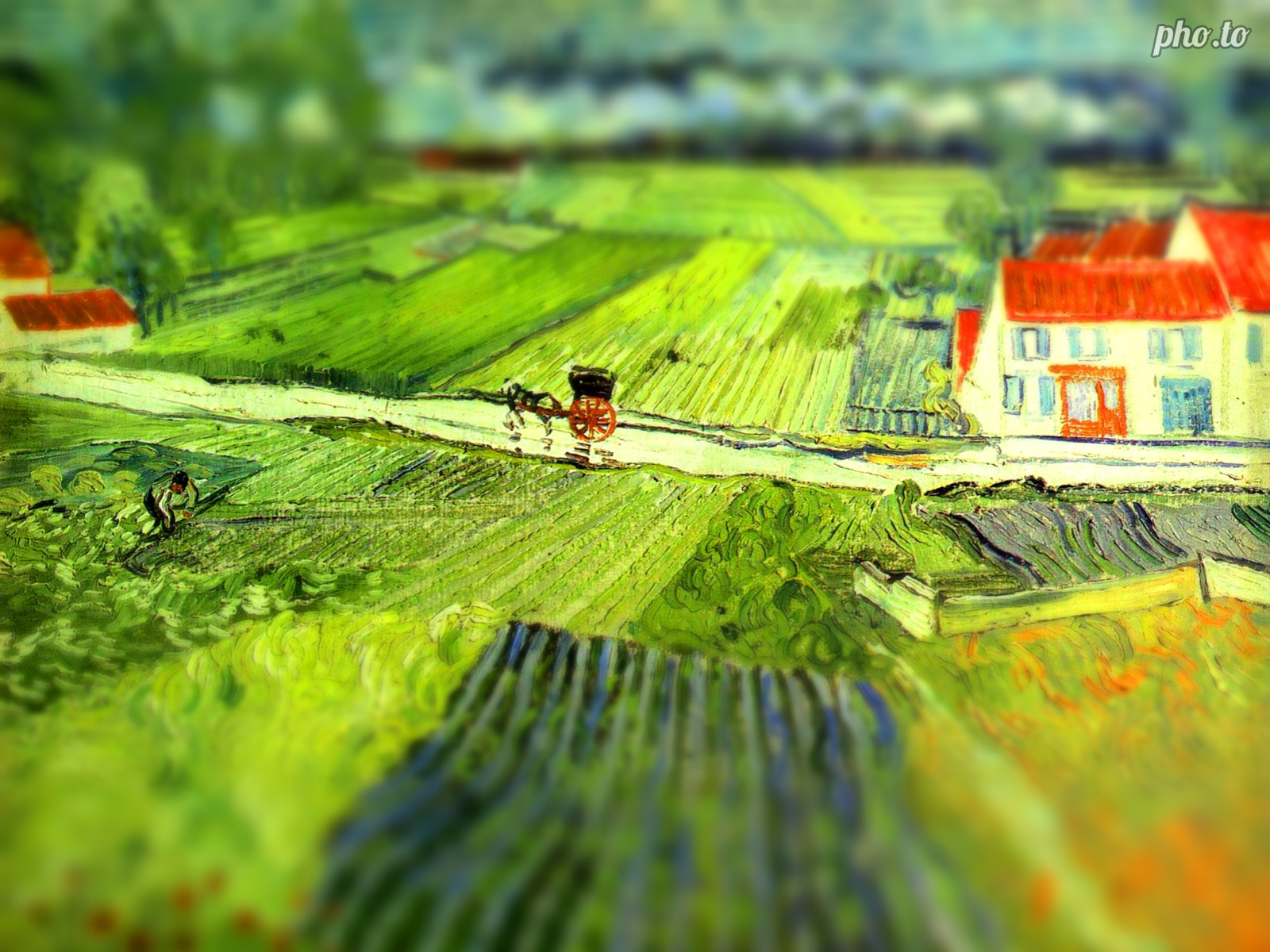 Tilt Shift style allows to create an awesome 3D effect
