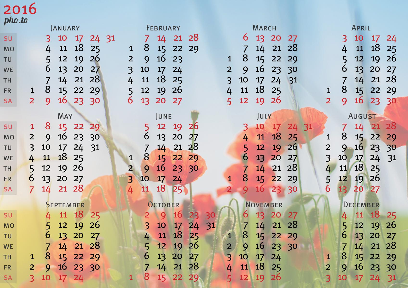 обои рабочего стола календарь октябрь 2016 № 1355626 бесплатно