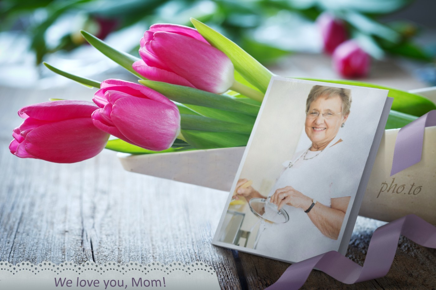 Mothers day greeting card template - free personalized gift.