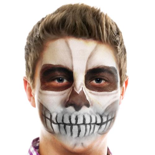half face skull makeup male hairsjdiorg