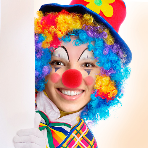Clown face paint online clown yourself for free for Face painting clowns for birthday parties