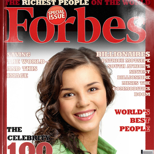 you are a big deal so put your photo on forbes magazine