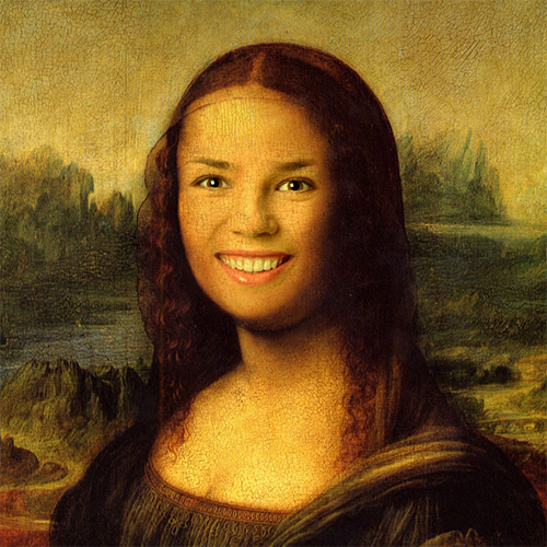 Mona Lisa Face In Hole Photo Montage Online