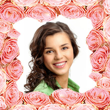 Cadre Roses Roses