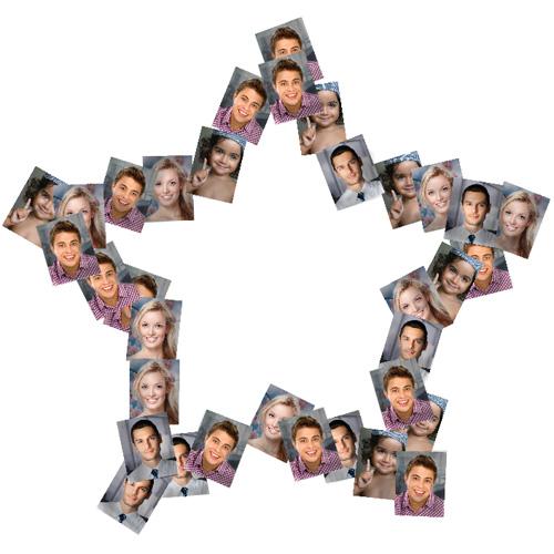 Disposez vos photos dans un collage en forme d 39 toile - Como hacer un collage de fotos a mano ...