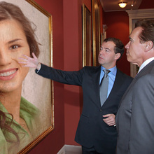 Medvedev and Schwarzenegger