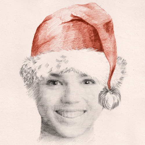 Christmas yourself with a funny 'santa sketch effect