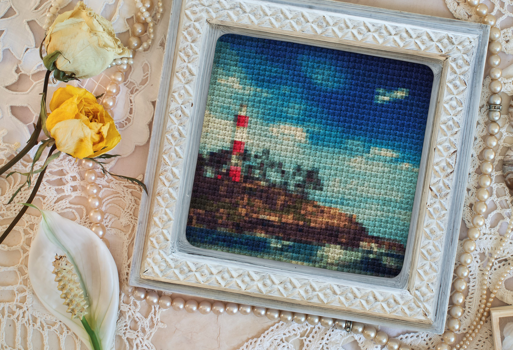 Have you tried virtual cross stitching? Give it a go on Funny.Pho.to
