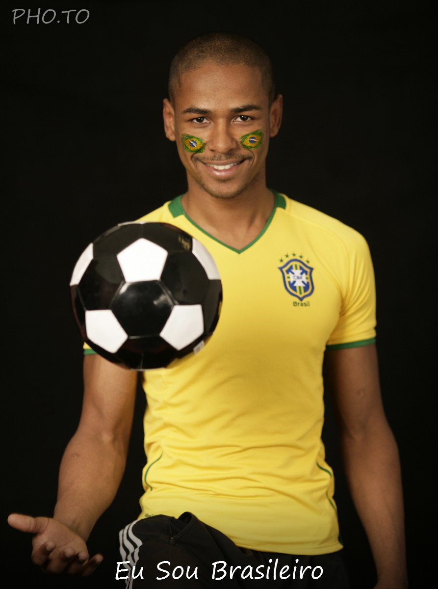 This Brazil football fan knows how to juggle a soccer ball ;)