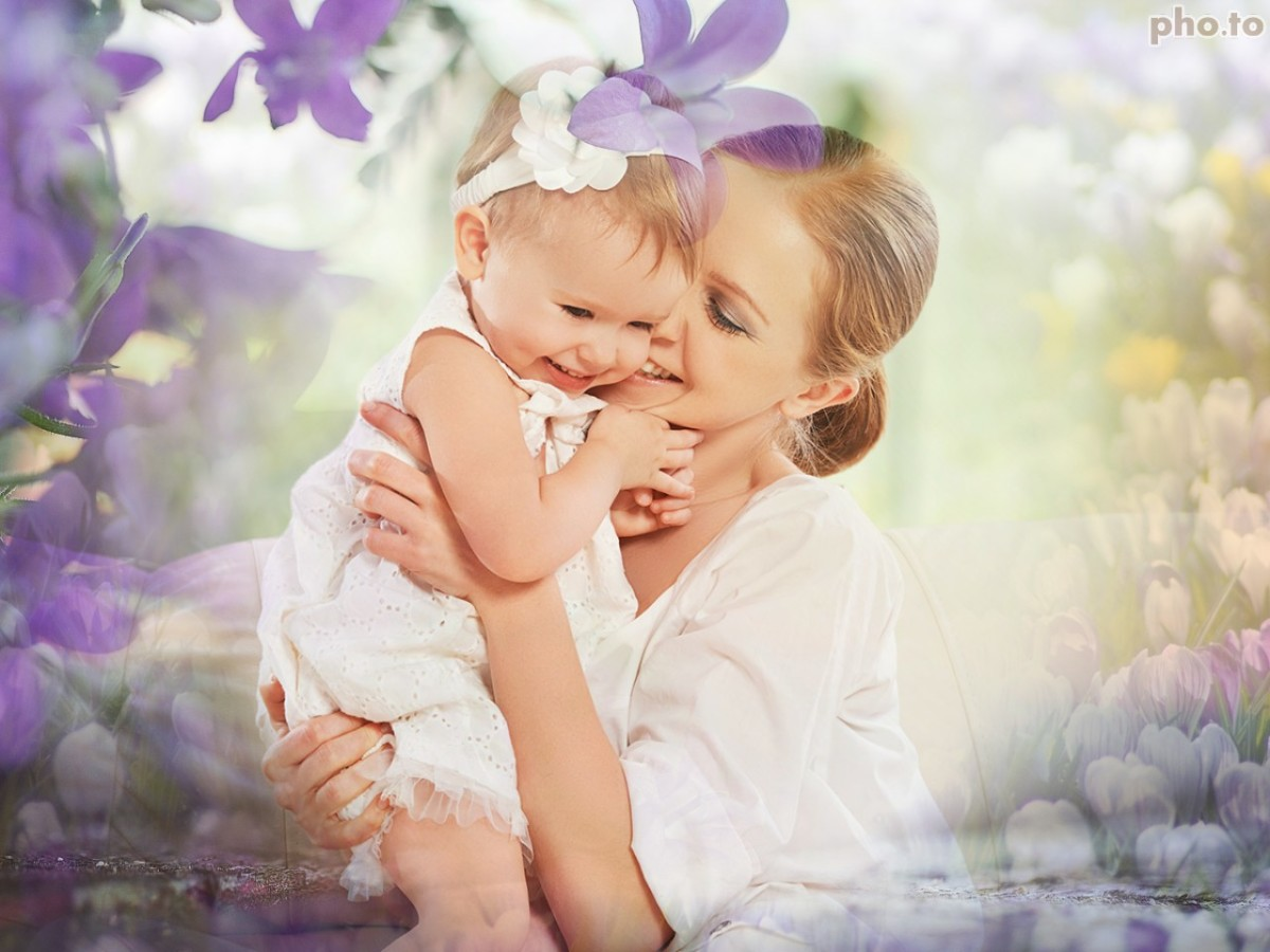 Flower Dream photo background as example of Mother's Day ecard design