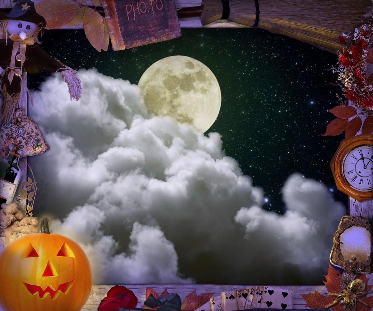 Moon light in a Halloween night.