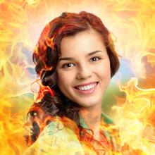 Feuerflammen Hintergrund