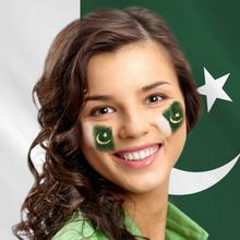 Flag of Pakistan' Online Face Painting for Your Portrait Photo