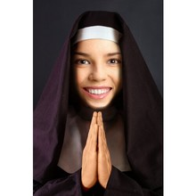 Put your face on a nun body online! Free face photo montage