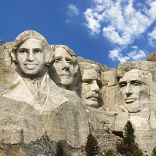Mount Rushmore Face in Hole