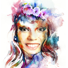 Female Watercolor Portrait
