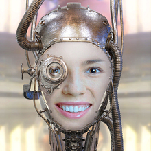 Steampunk Robot Face Mask
