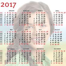 Transparent Calendar 2017