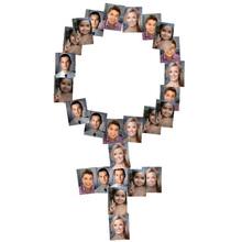 Collage a Forma di Simbolo Femminile