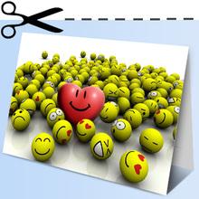 Carte cœur souriant
